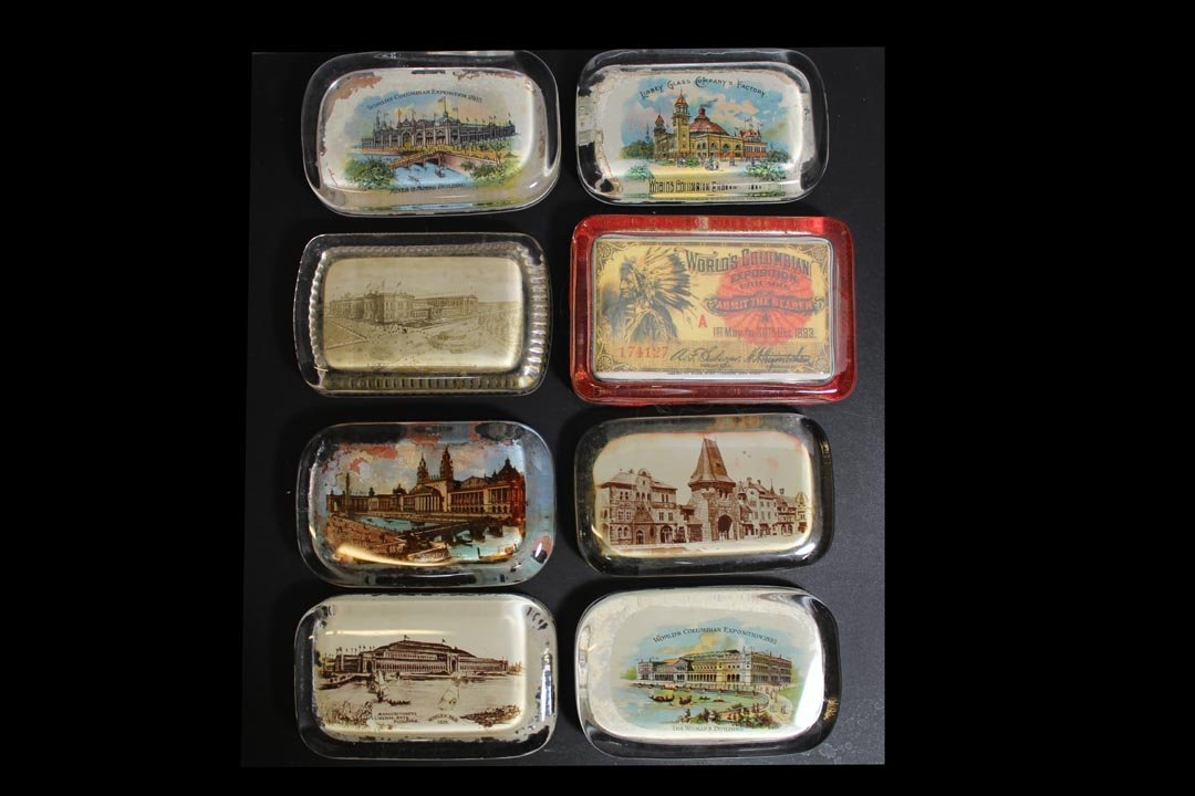 Group Of World's Fair And Exposition Paperweights