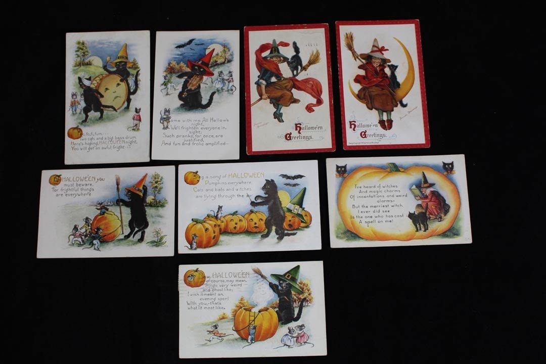 Eight Halloween Postcards