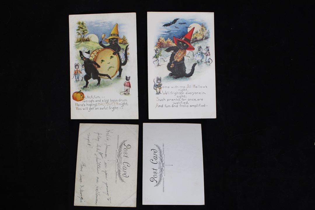 Eight Halloween Postcards - 2