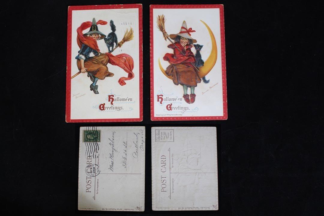 Eight Halloween Postcards - 3
