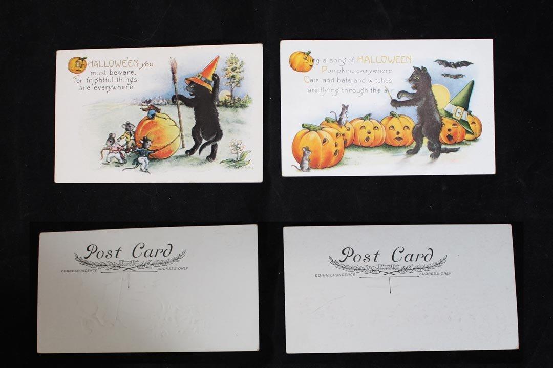 Eight Halloween Postcards - 4