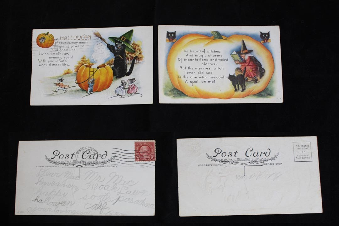 Eight Halloween Postcards - 5