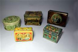 Group Of Five Coronation Tins