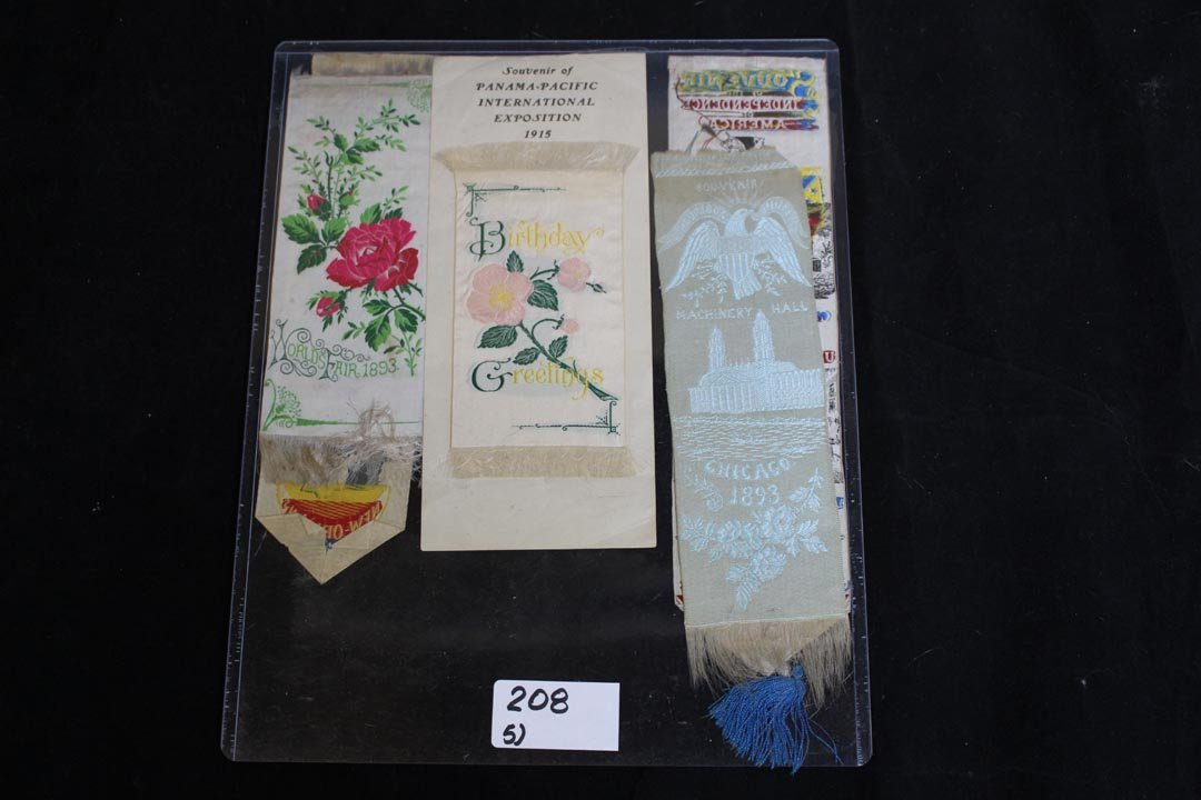 Five Exposition Stevengraph Bookmarks