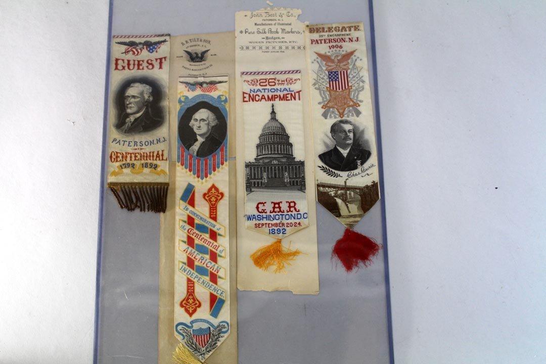 Four Woven Silk Stevengraph Bookmarks