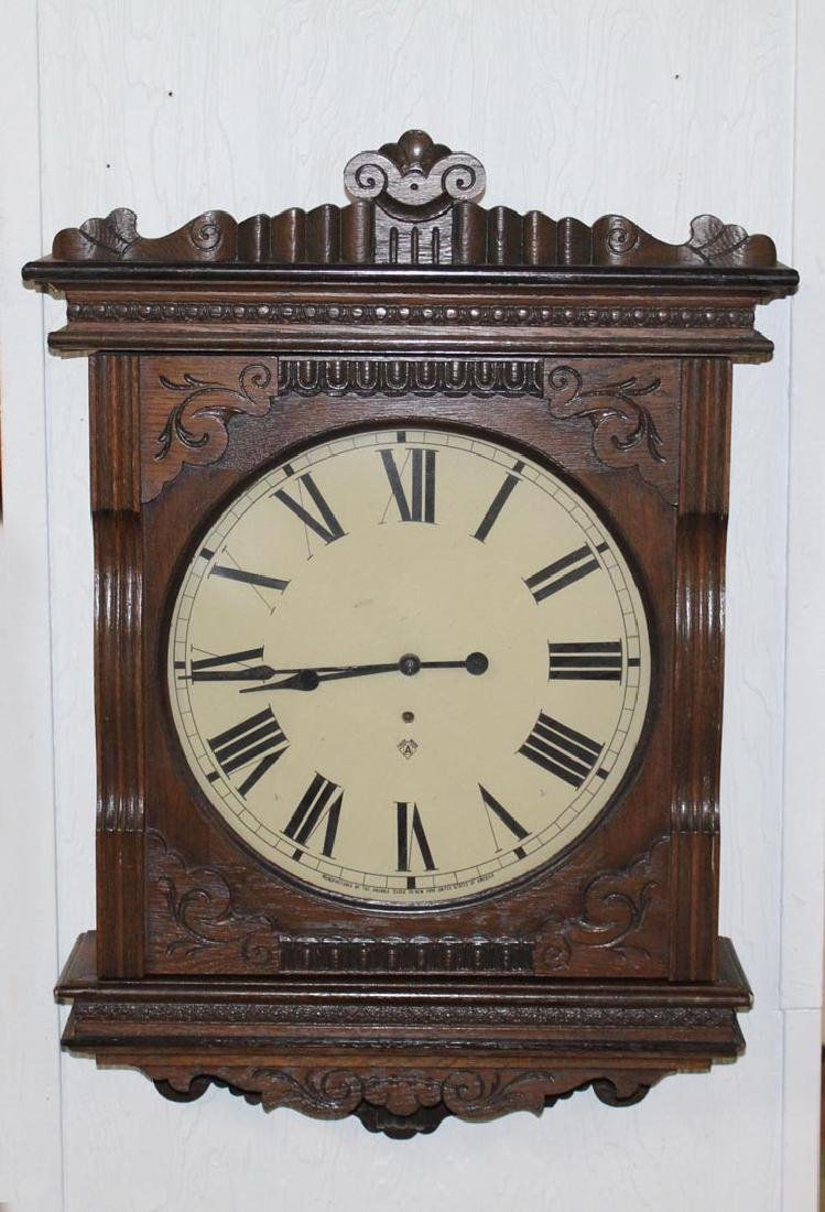 Oak case Ansonia Wall Clock