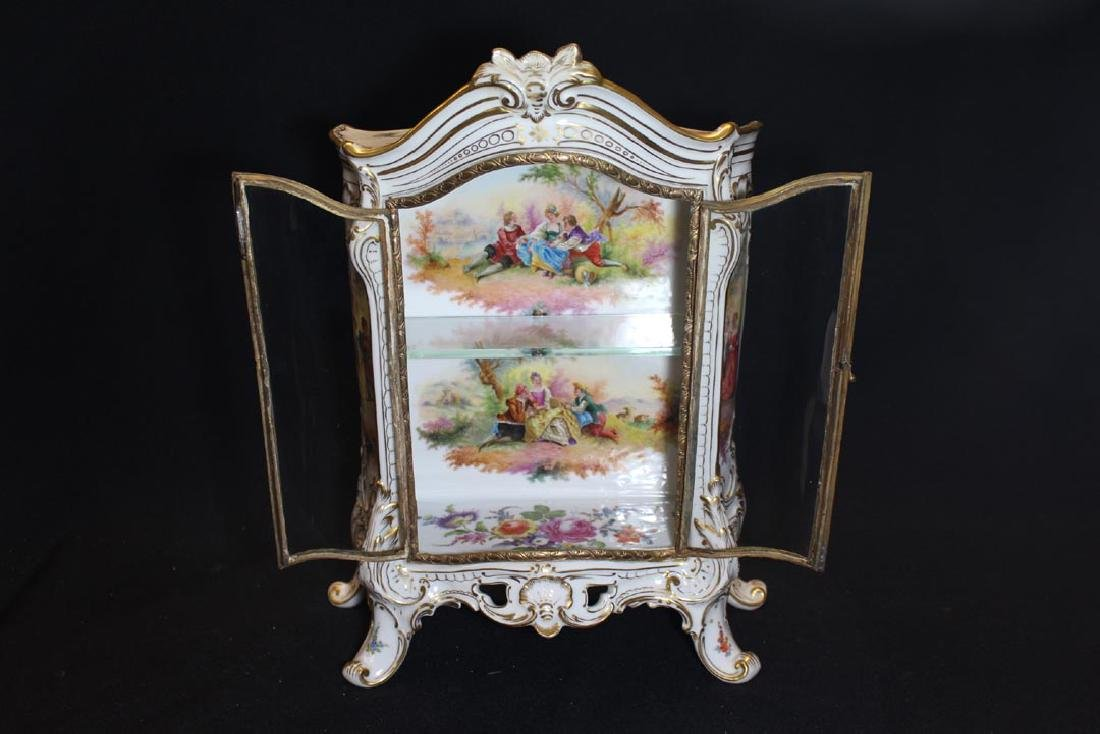 Carl Thieme Potschappel Dresden Porcelain Display Case