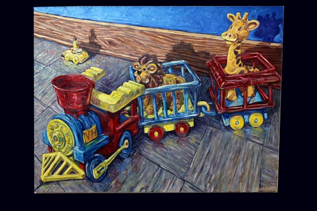 "Vincent Hron Painting, ""CHOO-CHOO"""
