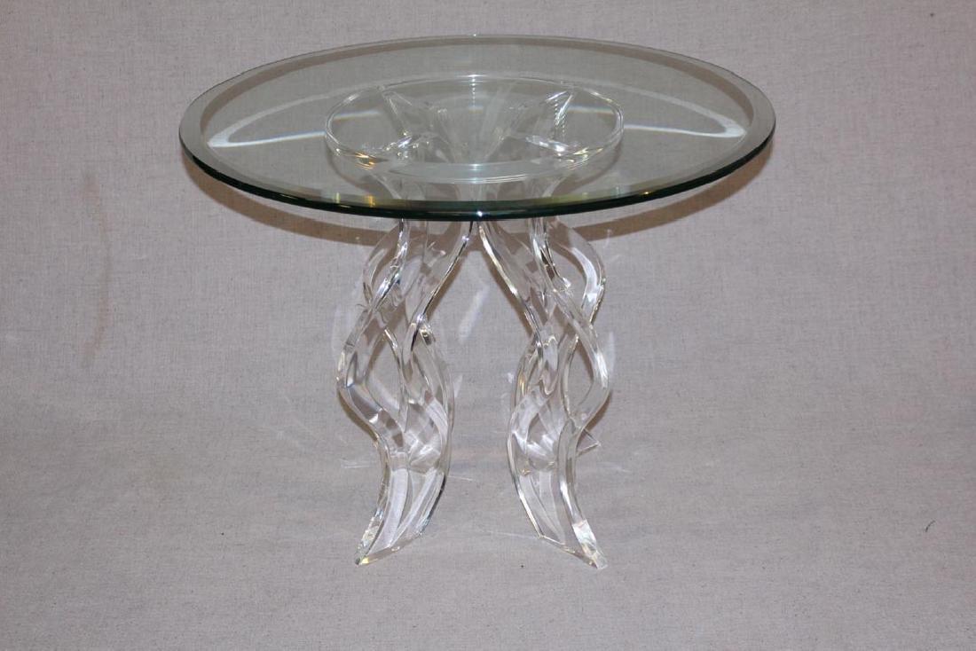 Signed Muniz Acrylic Table