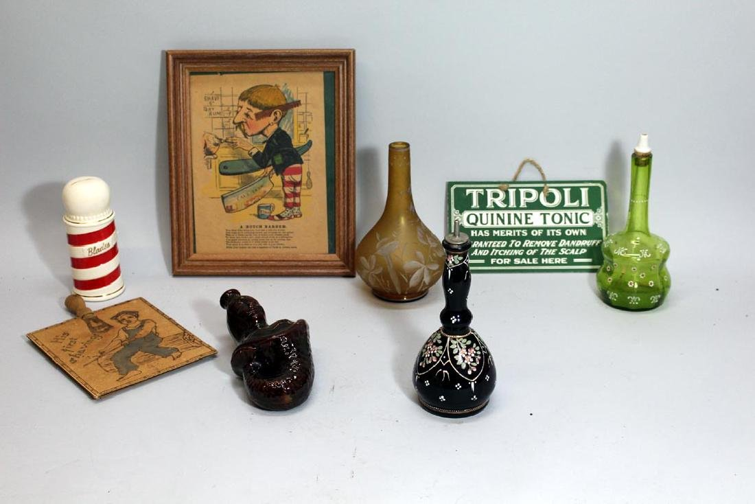 Barber Bottles And Related Lot