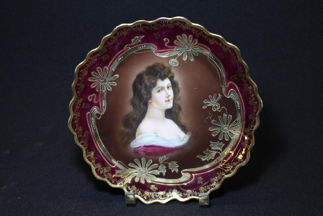 "Royal Vienna ""Amorosa"" Portrait Plate"