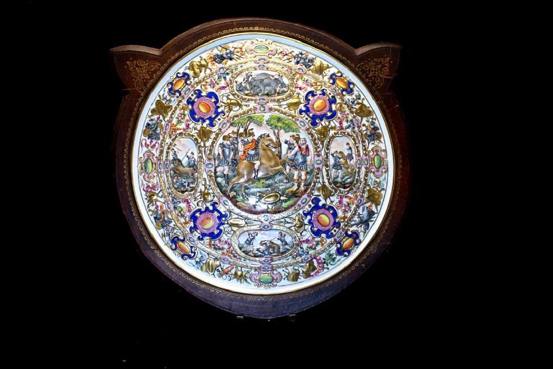 Capodimonte Porcelain Shield