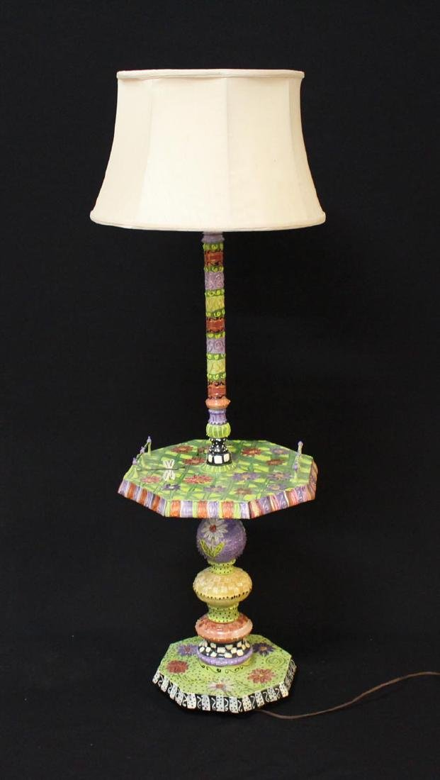 """Art By Faye"" Painted Floor Lamp"