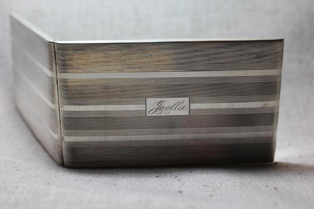 Personalized Sterling Cigarette Case