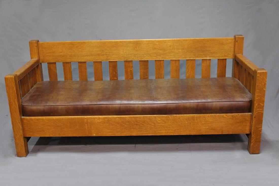Limbert Arts & Crafts Oak Settle