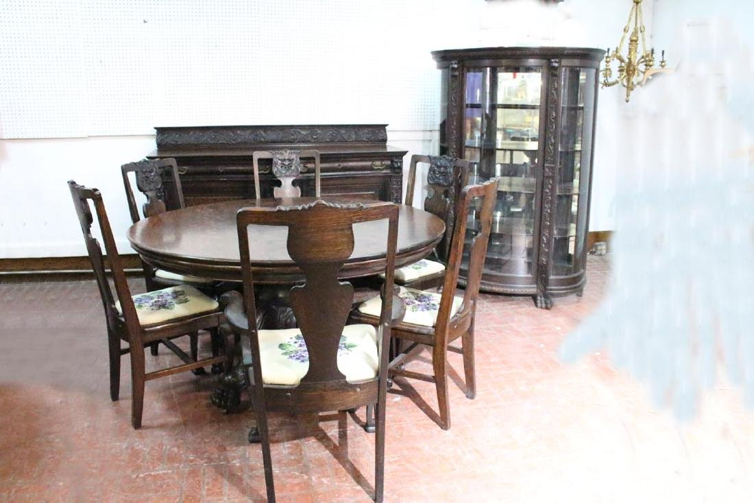 1890s Oak Dining Room Set
