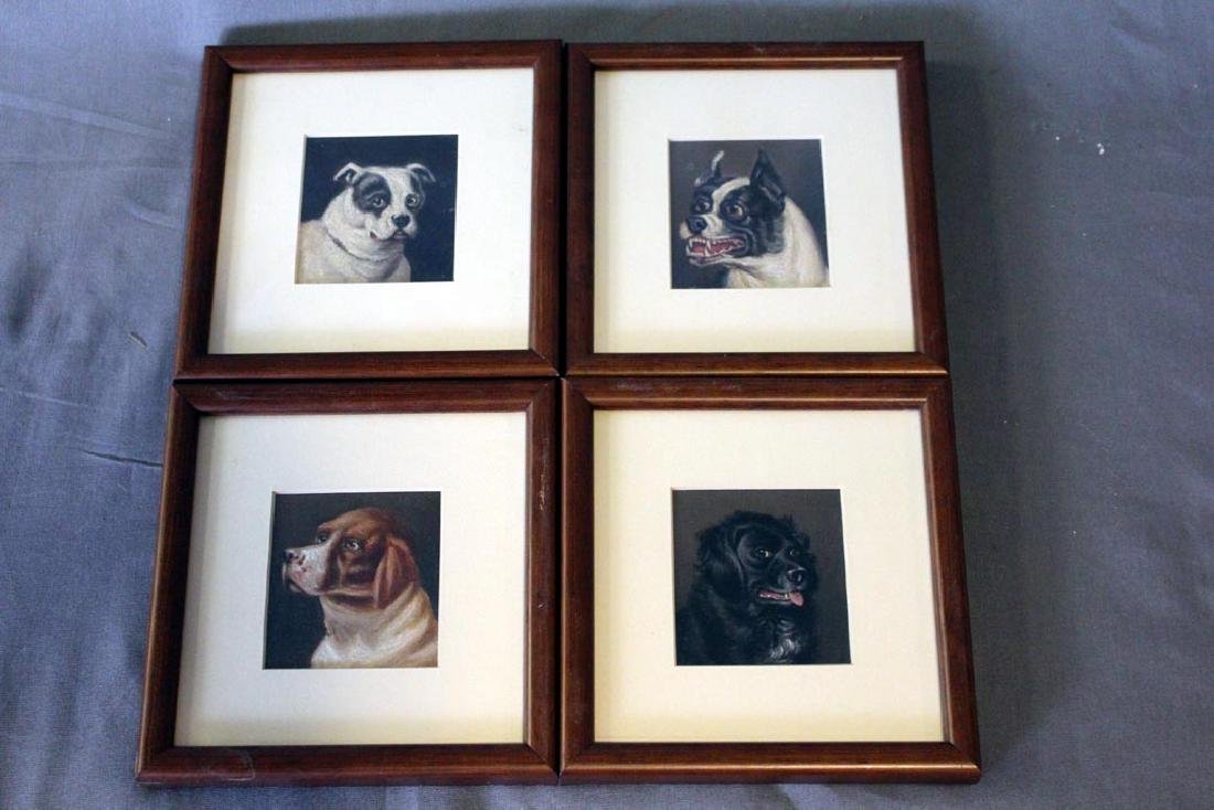 Four Dog Paintings