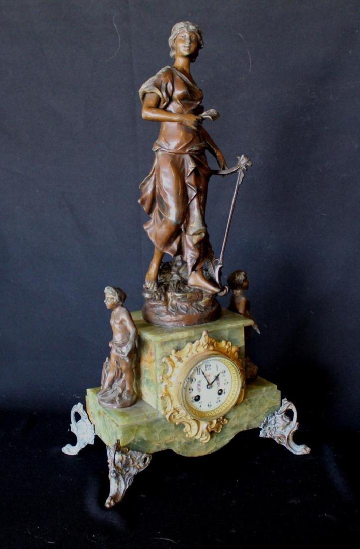 1900 F. Marti Statue Clock