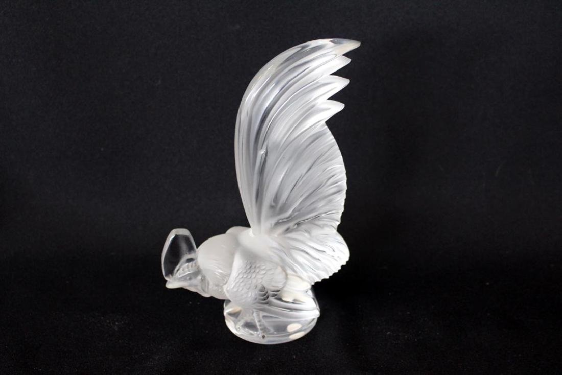 Lalique Clear And Frosted Rooster