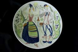 Carl Stalhane Rorstrand Pottery Charger