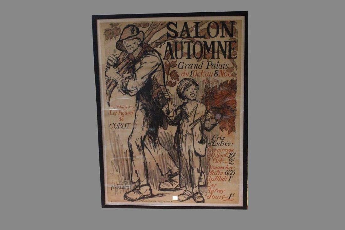 1909 Paris Art Exhibition Poster