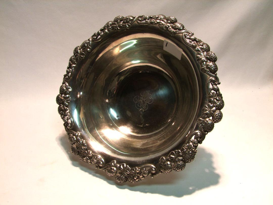 1: Sterling Tiffany Clover Bowl - 2