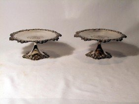 Matched Pair Of Sterling Tiffany Compotes