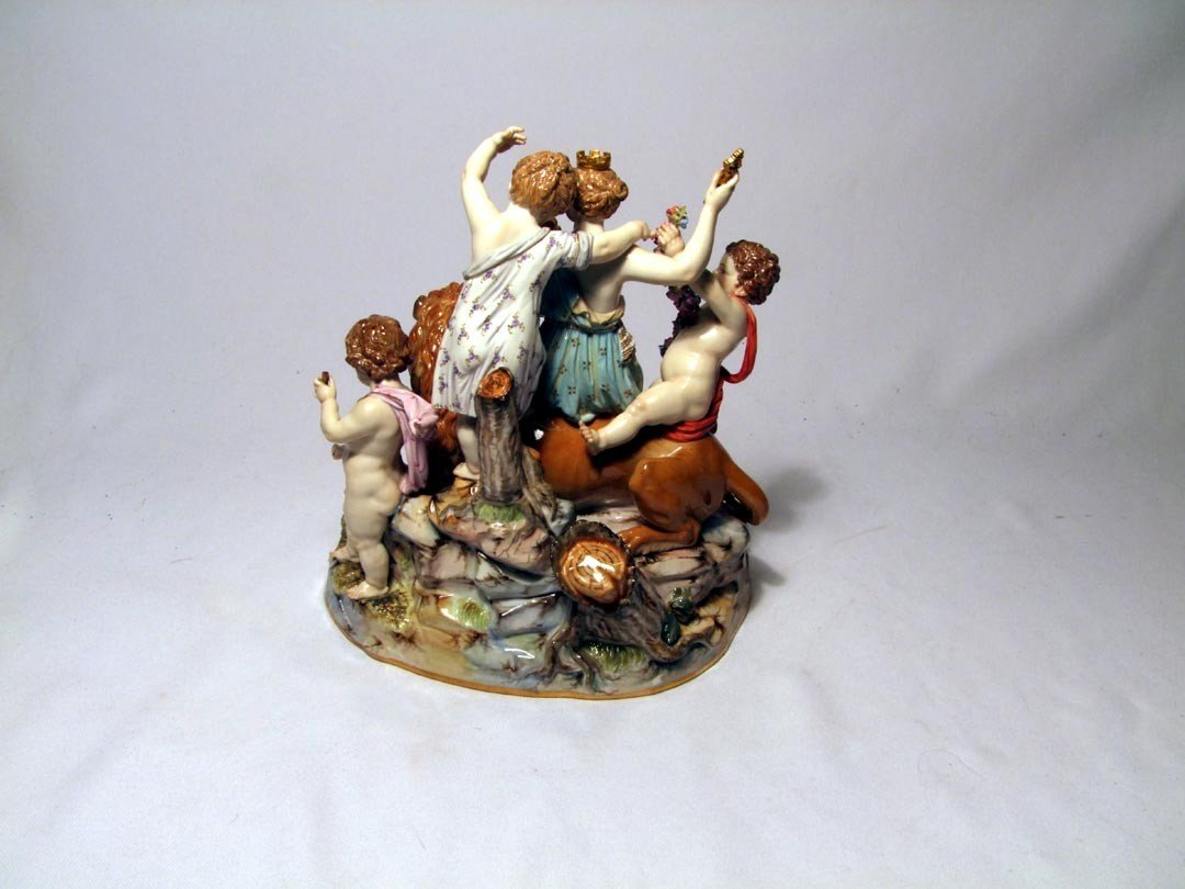 4: Late 19th Century Meissen Group Of Cybele - 3