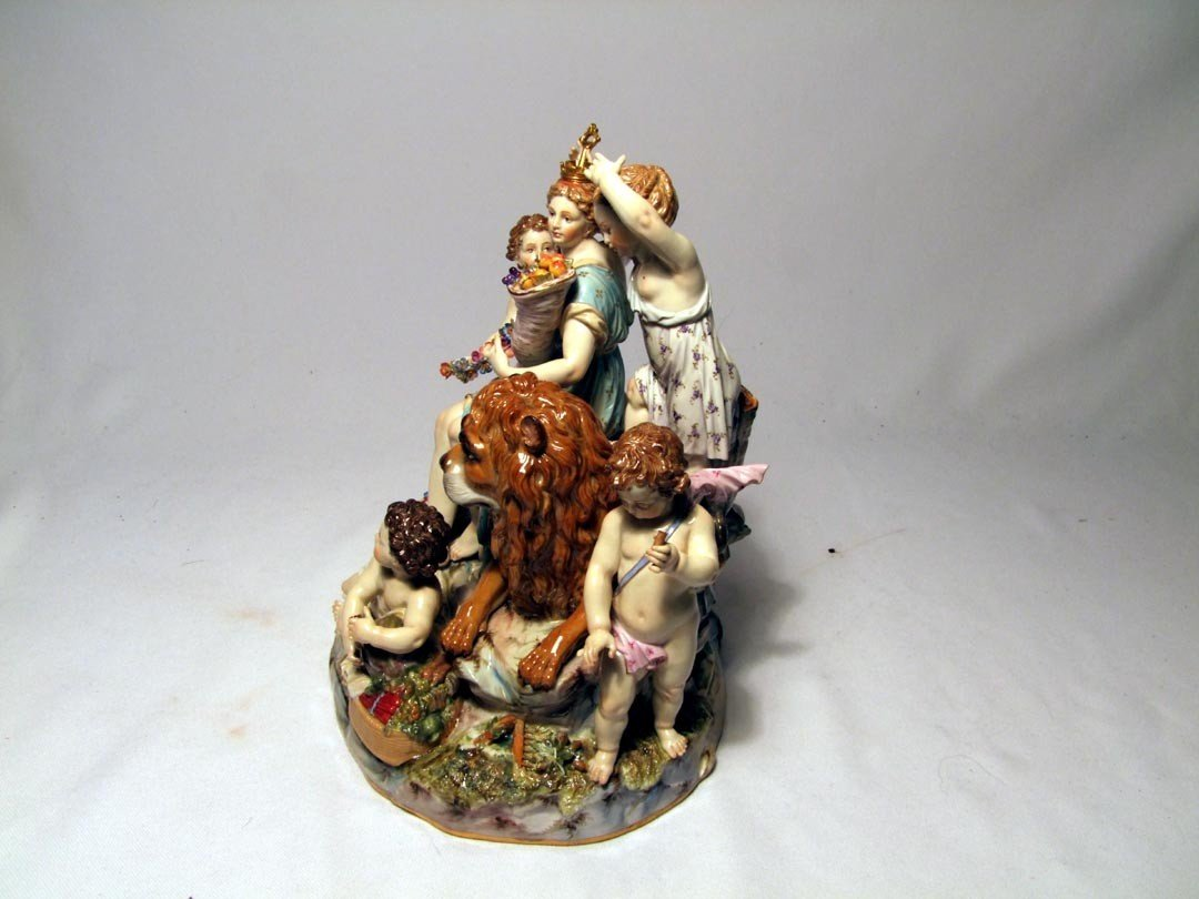 4: Late 19th Century Meissen Group Of Cybele - 4