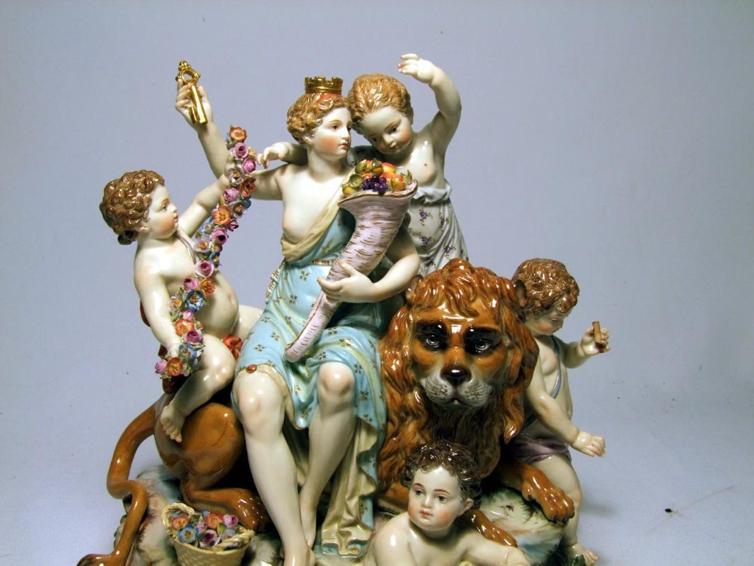 4: Late 19th Century Meissen Group Of Cybele - 5