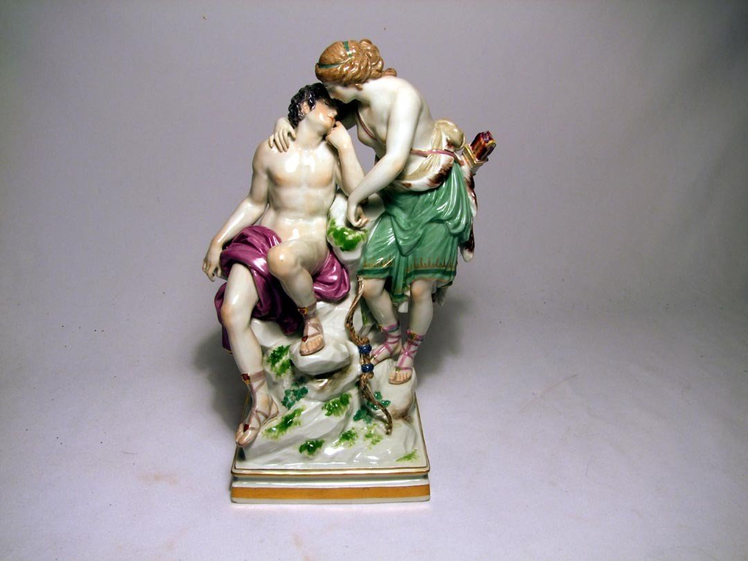 5: Late 19th Century Meissen Figural Of Diana and Endym