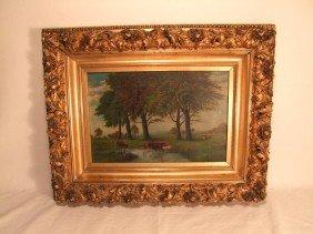 Original Oil Painting On Canvas Signed J L Norton,