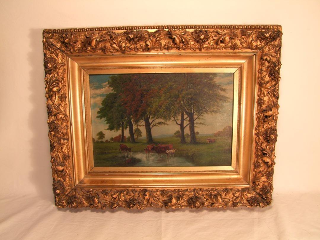11: Original Oil Painting On Canvas Signed J L Norton,