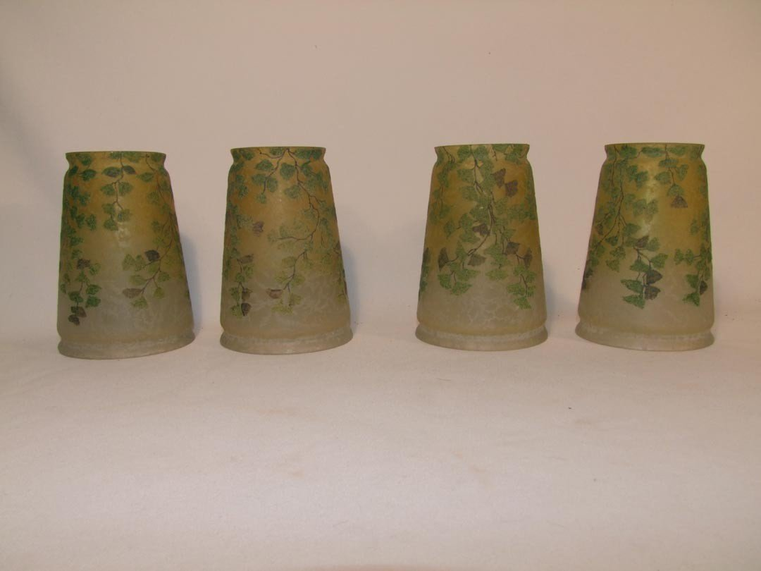 19: Set Of Four Teroma Signed Handel #3190 Shades