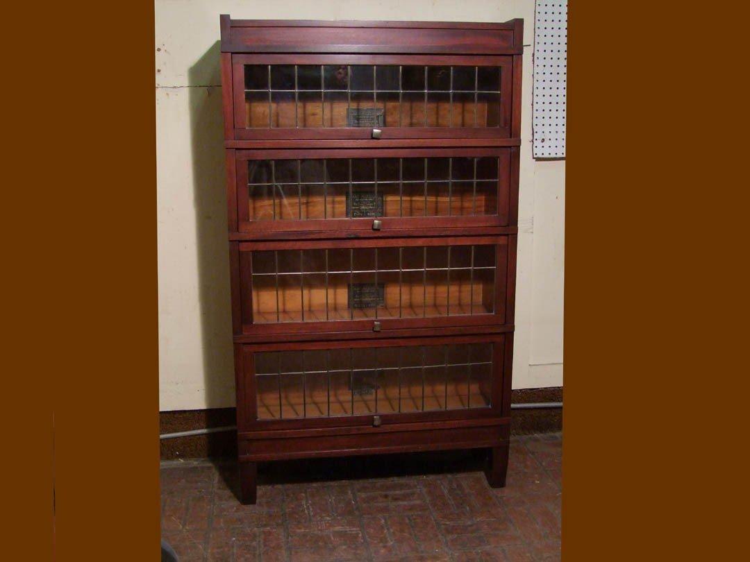 "20: Mahogany ""Art-Mission"" Sectional Bookcase"