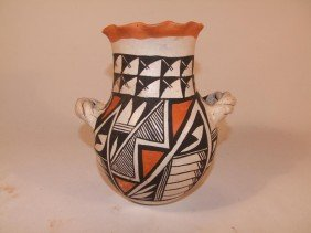 Early 1900s Acoma Pueblo Decorated Handmade Pot