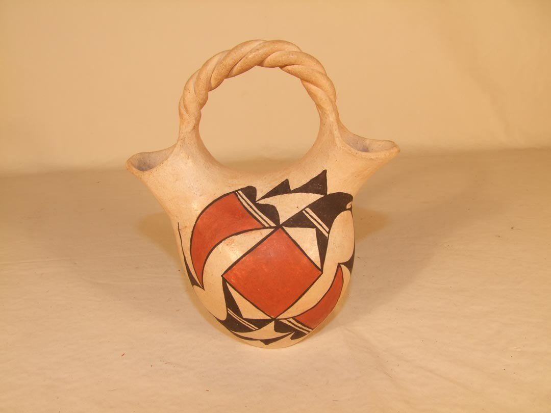 113: Acoma Pottery Wedding Jug