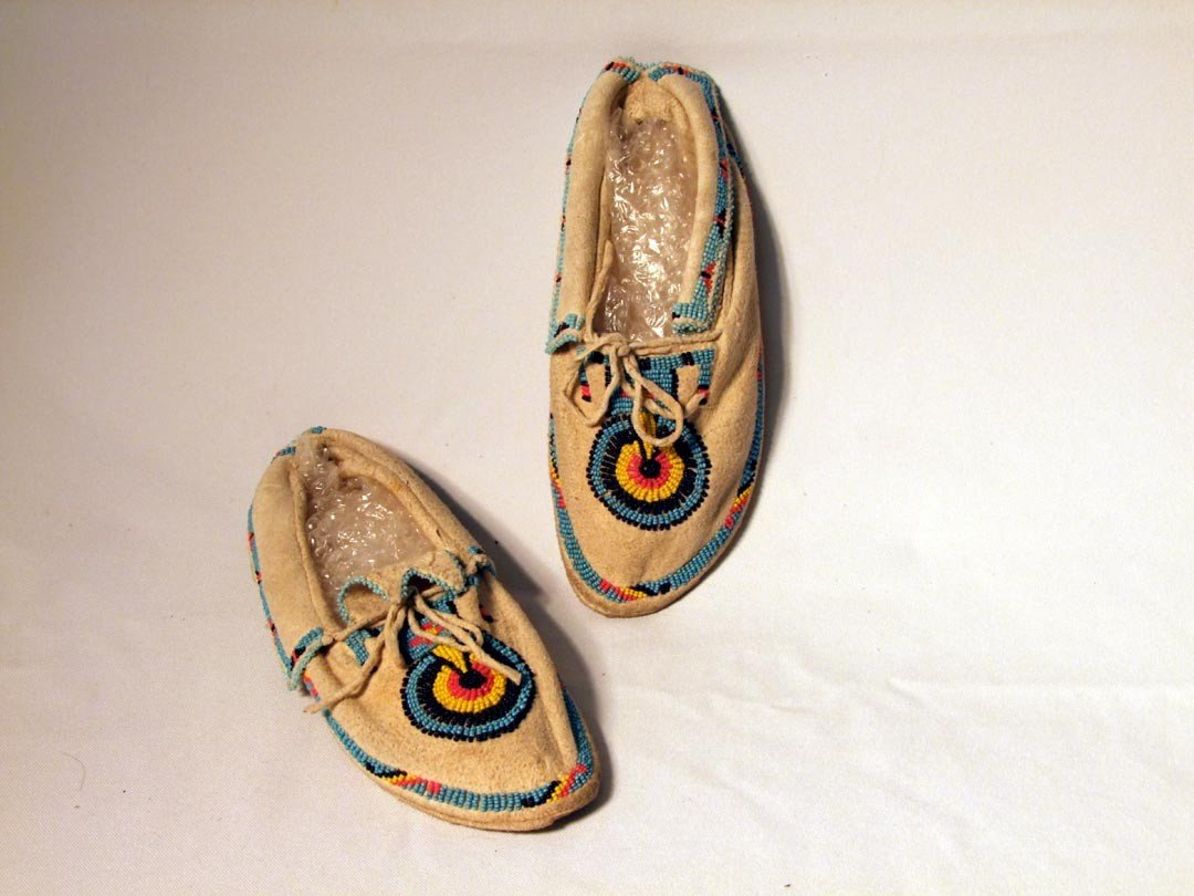 120: Beaded Indian Moccasins