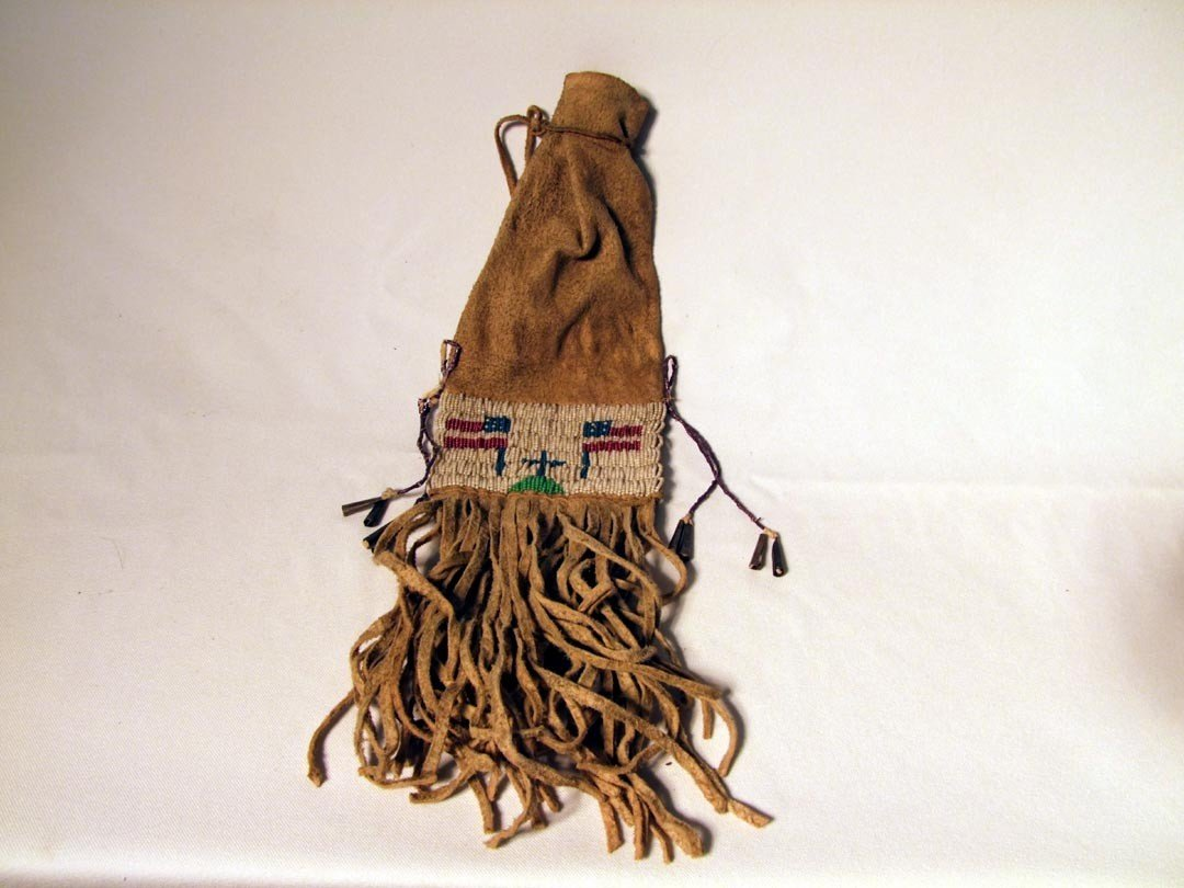 121: Fringed And Beaded Indian Pipe Bag