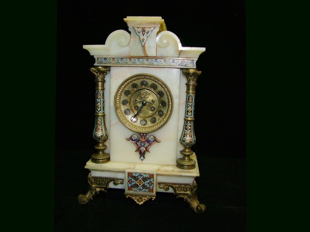 4: Onyx And Champleve Marti & Cie Clock