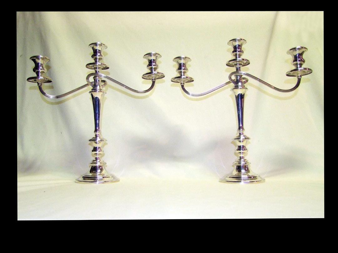 5: Gorham Sterling 3-Light Candelabras