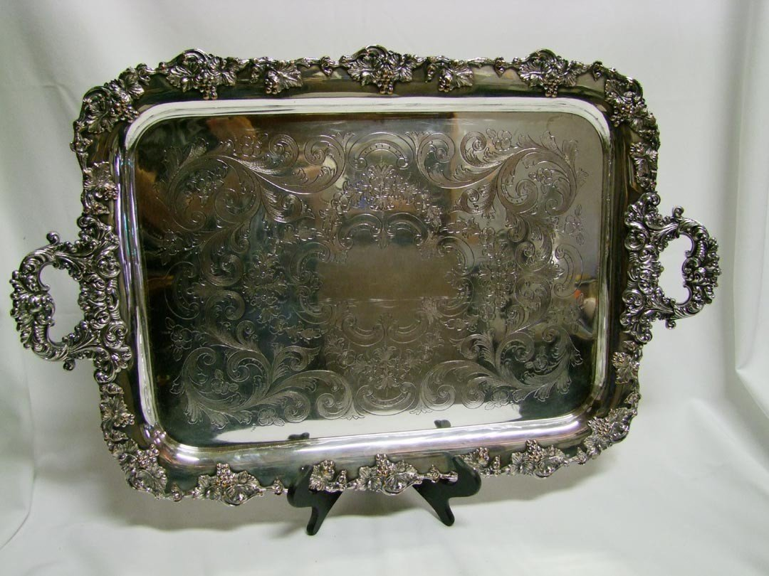 9: Sheffield Plate Butler's Tray