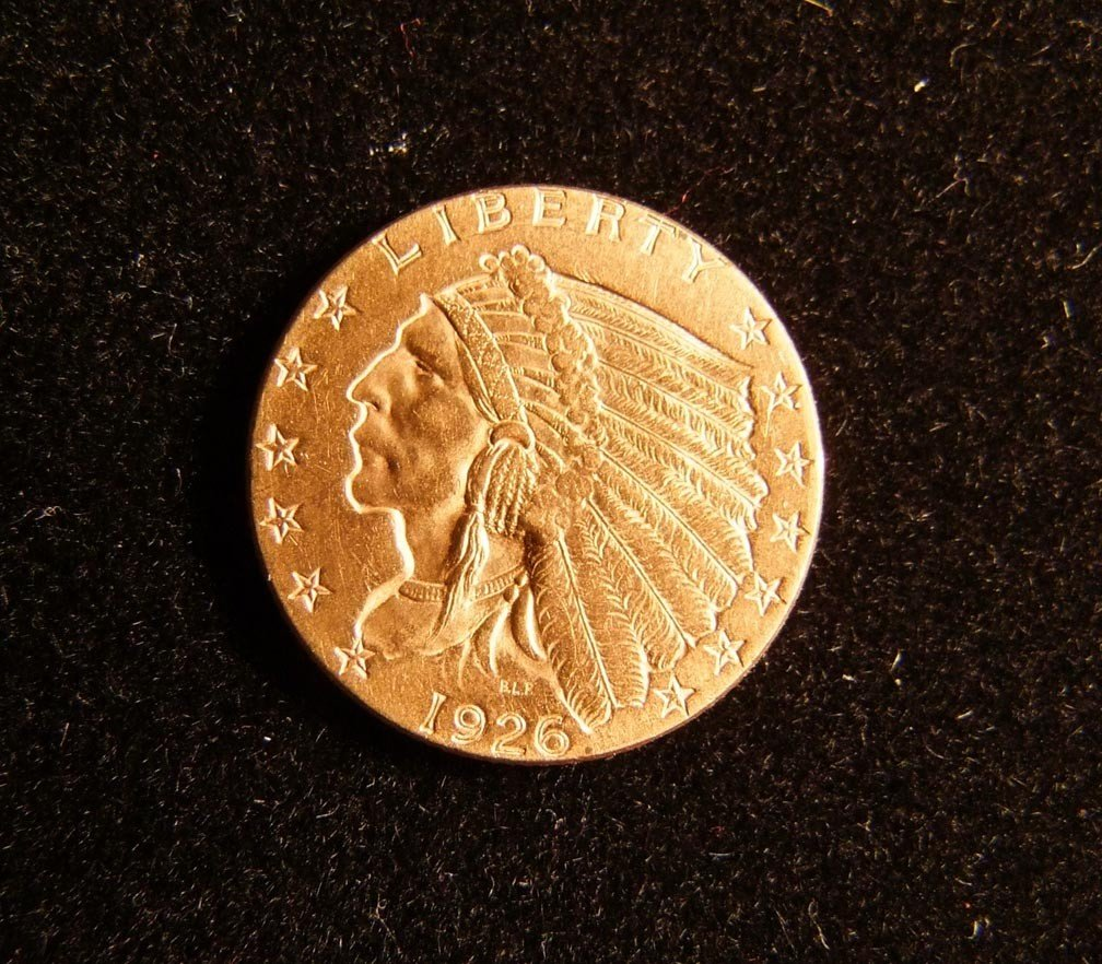 12: 1926 Gold 2 1/2 Dollar Coin