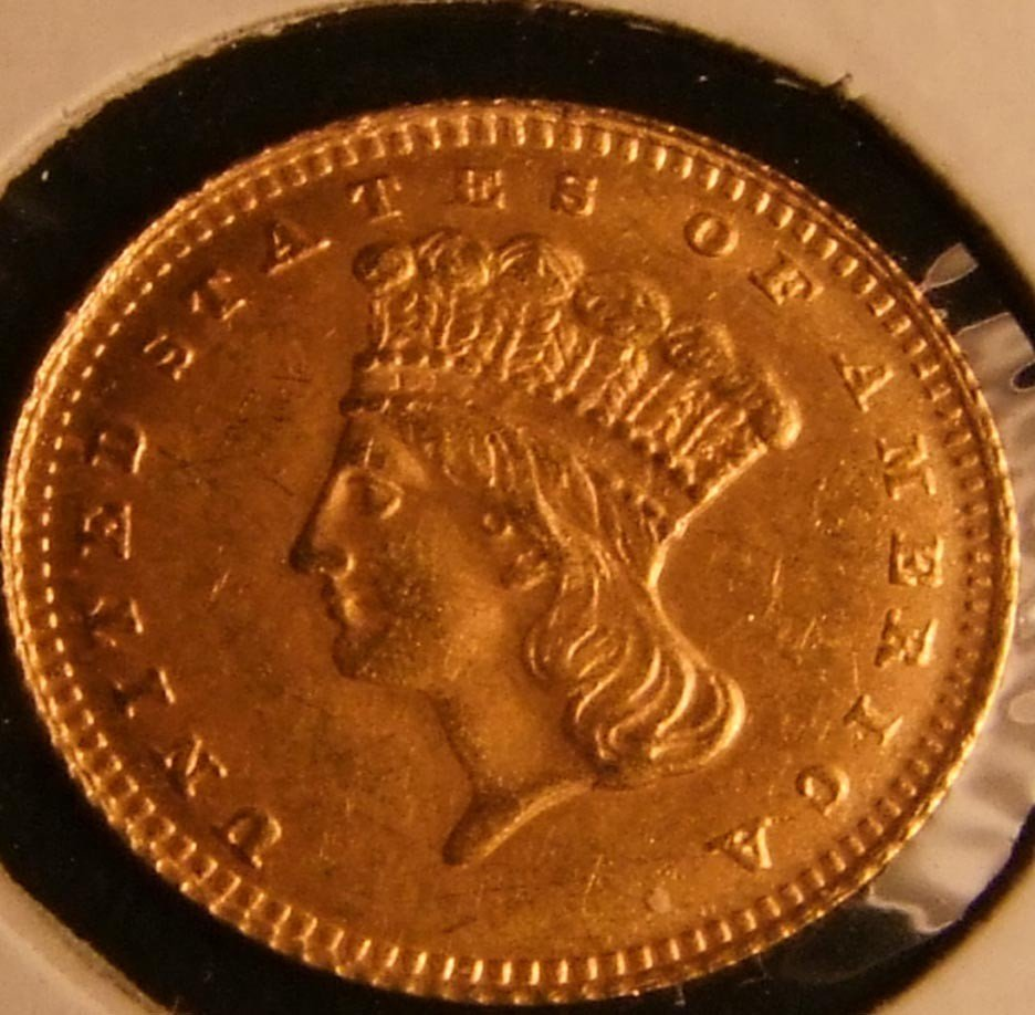 13: 1854 Gold Type 2 One Dollar Coin