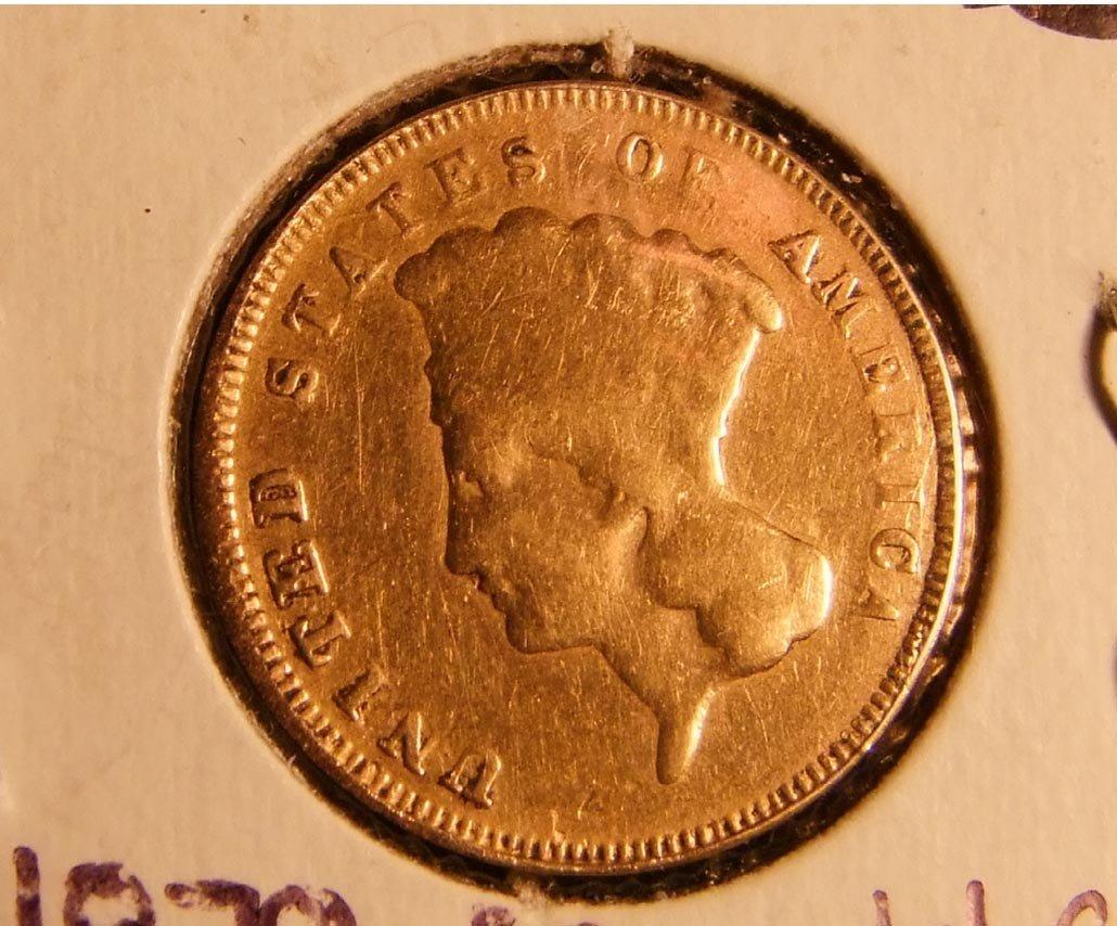 15: 1878 Gold Three Dollar Coin