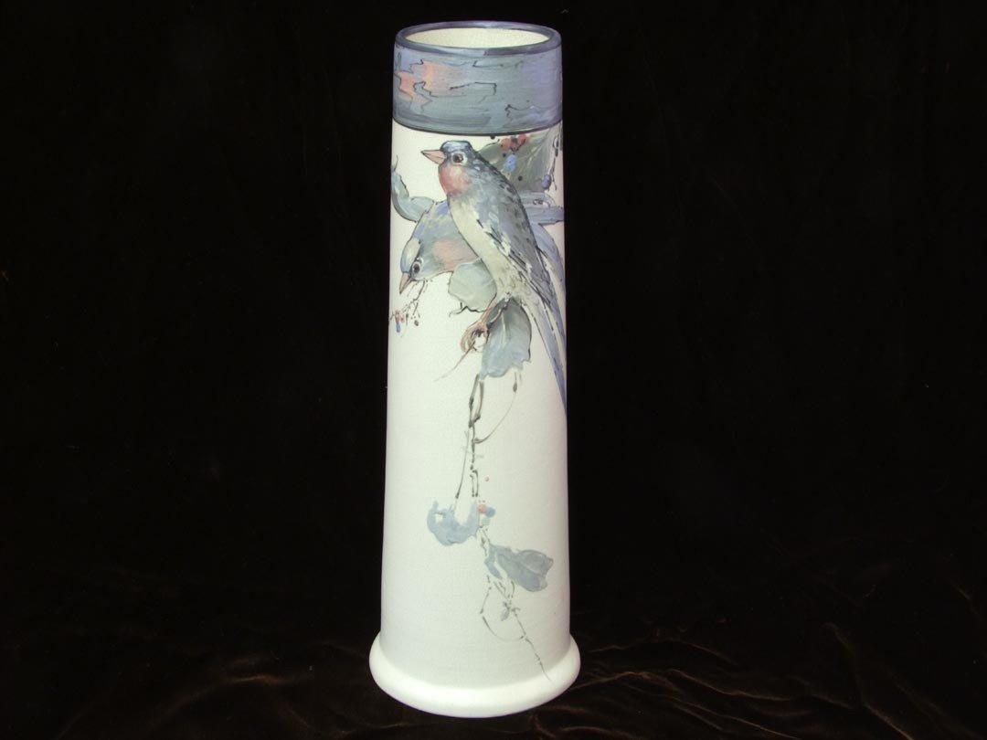 20: Weller Pottery,  Hudson Vase With Birds