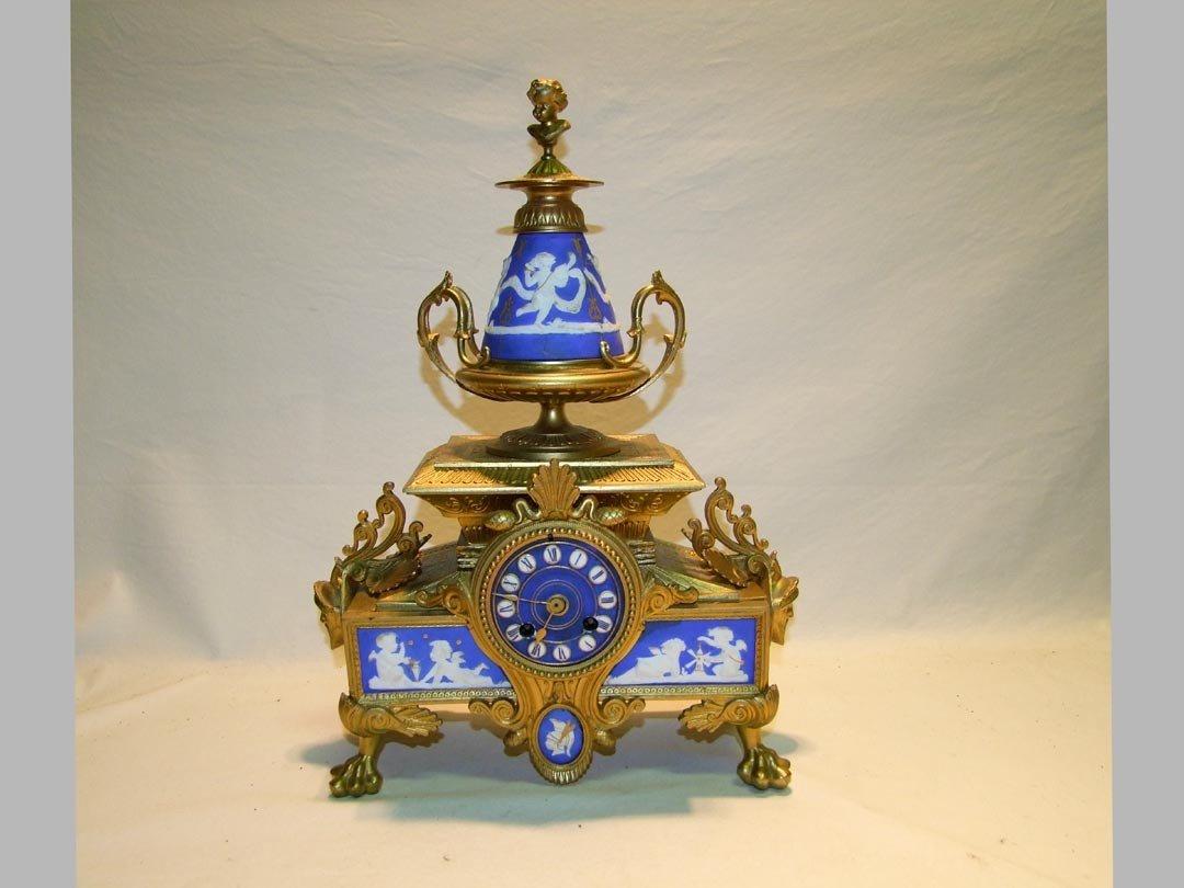 8: French Clock With Jasperware Inserts