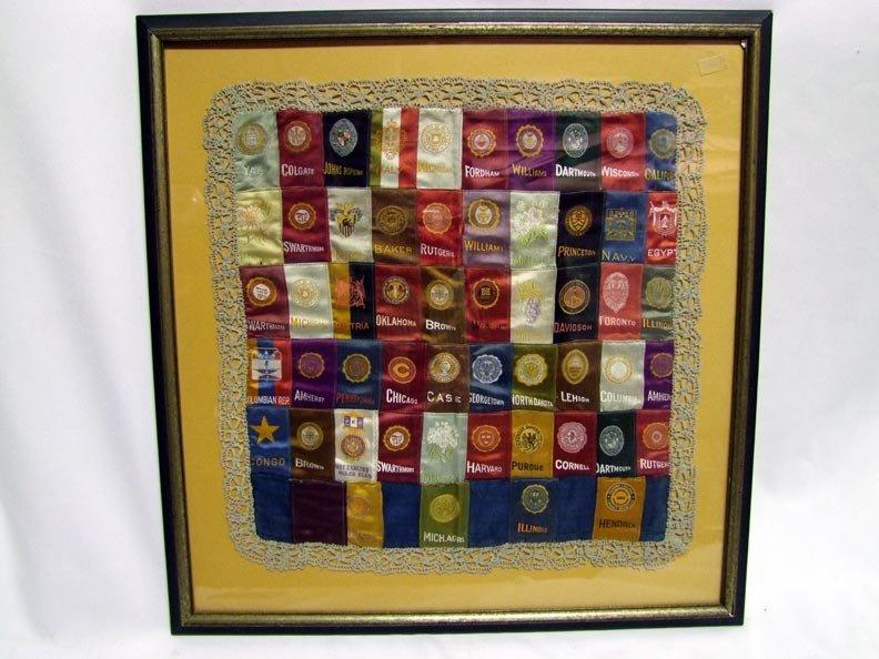 11: Framed Display Of Early Tobacco Silks