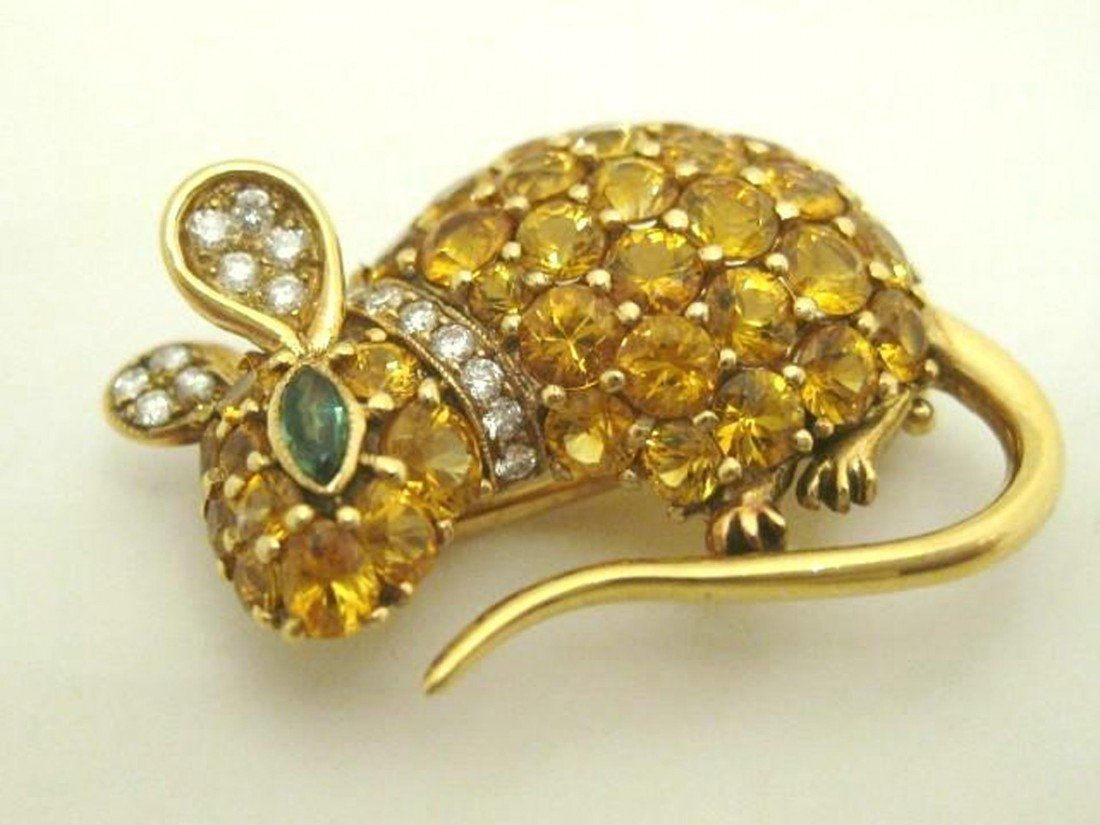 20A: 18K Yellow Gold Mouse Pin