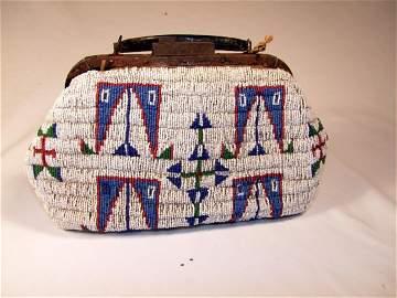 68: Late 1800s Fully Beaded Doctor's Bag